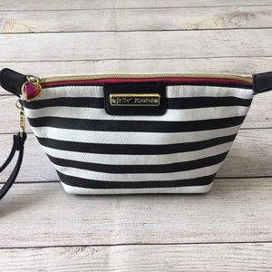 Betsey Johnson Striped Wristlet Cosmetic Bag
